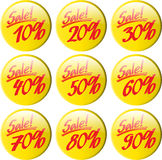 Buttons percent Royalty Free Stock Photography