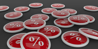 Buttons with percent icon Royalty Free Stock Photos
