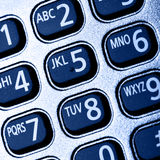 Buttons of phone. Close-up, may be used as background Stock Photos