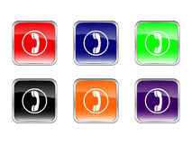 Buttons phone Stock Image