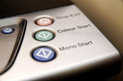 Buttons on a photocopier Royalty Free Stock Photography