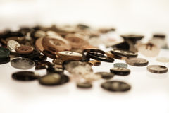 Buttons. Pile of buttons used for sewing and crafts Royalty Free Stock Photography