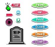 Buttons_Pixelart jpg Fotografia Stock