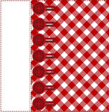Buttons on a plaid background Stock Images