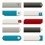 buttons plan rengöringsduk för element royaltyfri illustrationer