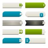 buttons plan rengöringsduk för element Royaltyfri Bild
