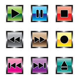 Buttons for a player Stock Photography