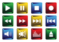 The buttons for the player Royalty Free Stock Photography