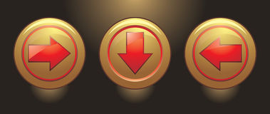 Buttons with pointers Stock Photography