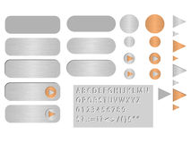 Buttons polished steel - vector Stock Photography