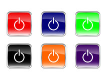 Buttons power Royalty Free Stock Images