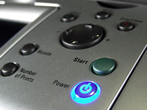 Buttons of printer. Navigation printer buttons Royalty Free Stock Photography