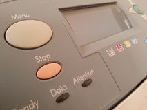 Buttons printer Royalty Free Stock Photo