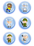 Buttons professions Royalty Free Stock Photo