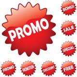 buttons promo Royaltyfri Fotografi