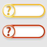 Buttons with question mark Royalty Free Stock Photography