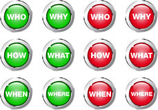 Buttons Questions Royalty Free Stock Photography