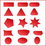 buttons röd website Knappen för rengöringsdukdesignen ställer in på förhand röd färg bluen buttons spelarevektorversion UI-bestån vektor illustrationer