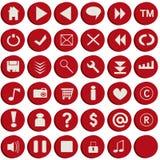 buttons röd rengöringsduk Royaltyfria Bilder