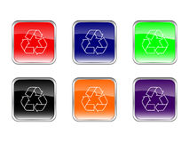 Buttons recycle vector illustration