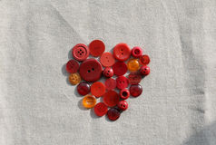 buttons red Arkivfoton