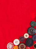 Buttons on red velvet Royalty Free Stock Photo
