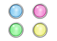 Buttons with reflections Royalty Free Stock Images