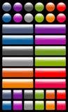 buttons reflexionsrengöringsduk Arkivfoto