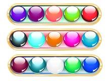 Buttons regulators Stock Image
