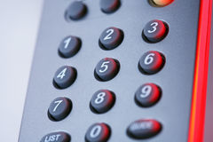 Buttons on remote control Royalty Free Stock Photos