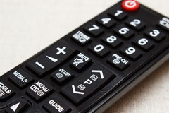 Buttons on remote control for television Stock Photos
