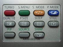 buttons remoten Arkivbilder