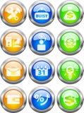 buttons rengöringsduk Royaltyfri Bild