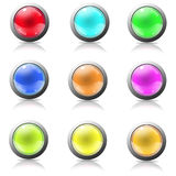 buttons rengöringsduk Arkivbild