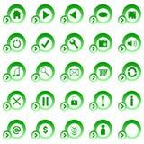 buttons rengöringsduk royaltyfri illustrationer
