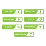 buttons rengöringsduk Arkivbilder