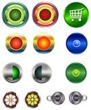 buttons rengöringsduk Royaltyfri Fotografi