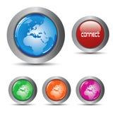buttons rengöringsduk för samlingseps-vektor Arkivbild