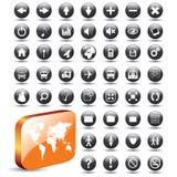 buttons rengöringsduk för samlingseps-vektor Royaltyfria Foton