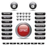buttons rengöringsduk för samlingseps-vektor Arkivbilder