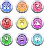 buttons retro Royaltyfri Bild