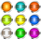 buttons retro vektor illustrationer