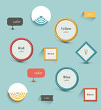 Buttons. Retro color style. Stock Images