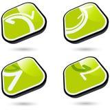 buttons riktningsrengöringsduk Royaltyfria Bilder