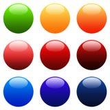 buttons rund rengöringsduk för färgglad lutning stock illustrationer