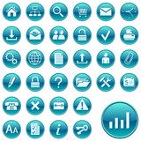 buttons rund rengöringsduk för symboler