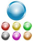 buttons runt glansigt Arkivfoto