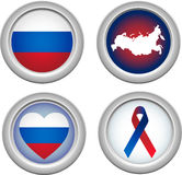 Buttons Russia Royalty Free Stock Image
