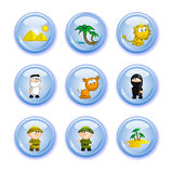 Buttons safari Stock Photography