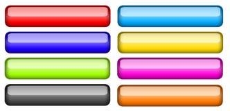 buttons samlingen färgat exponeringsglas Royaltyfria Bilder